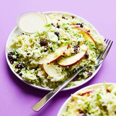 Shaved Brussels Sprout Salad with Creamy Honey Mustard Dressing Recipe   SideChef