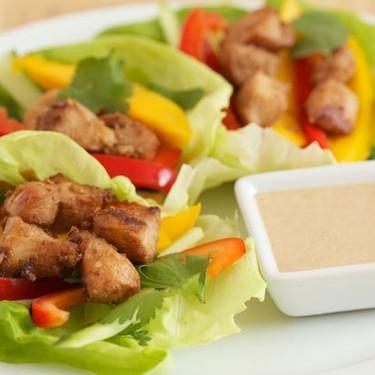 Satay Chicken Lettuce Wraps Recipe   SideChef