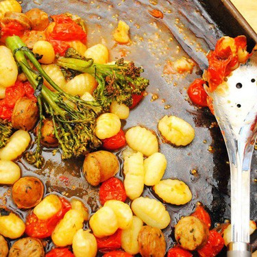 Sheet Pan Gnocchi with Sausage and Tomatoes Recipe | SideChef