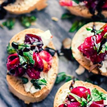 Quick Cranberry Goat Cheese Gluten Free Crostini Recipe   SideChef