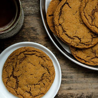 Chewy Five Spice Ginger Molasses Cookies Recipe | SideChef