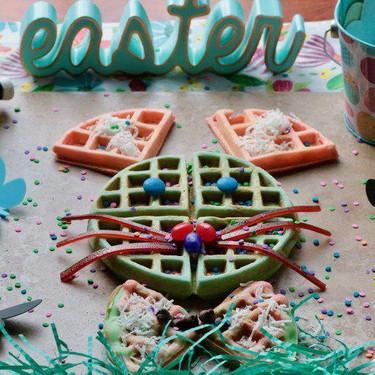 Vegan Easter Bunny Waffles Recipe | SideChef