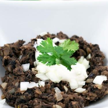 Refried Black Beans Recipe | SideChef