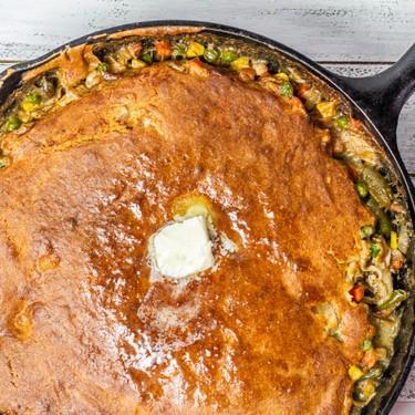 Cast Iron Cornbread Chicken Pot Pie Recipe   SideChef