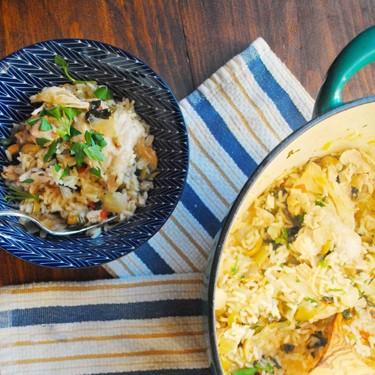 One Pot Lemon-Caper Chicken & Rice Recipe | SideChef