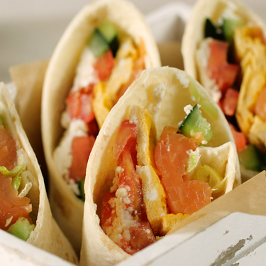 Breakfast Wrap with Omelette, Goat Cheese, and Salmon Recipe | SideChef