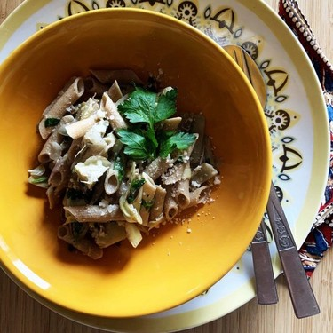 Creamy Artichoke Pasta Recipe | SideChef