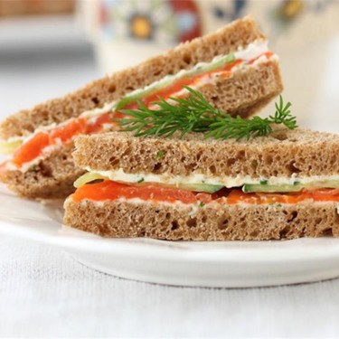 Salmon and Cucumber Tea Sandwiches Recipe | SideChef