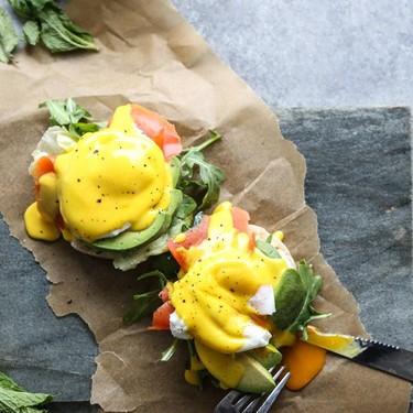 Easy Paleo Eggs Benedict and Turmeric-Ghee Hollandaise Recipe | SideChef