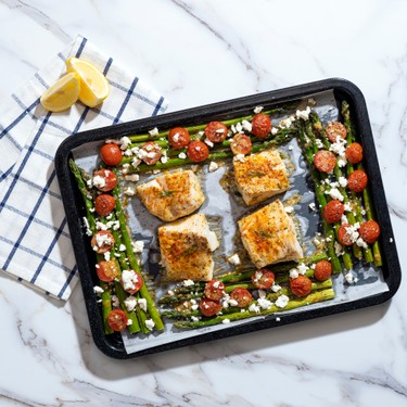 Sheet-Pan Roasted Cod with Spring Vegetables Recipe | SideChef