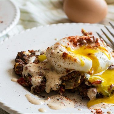 Zucchini Fritters with Poached Eggs Recipe   SideChef