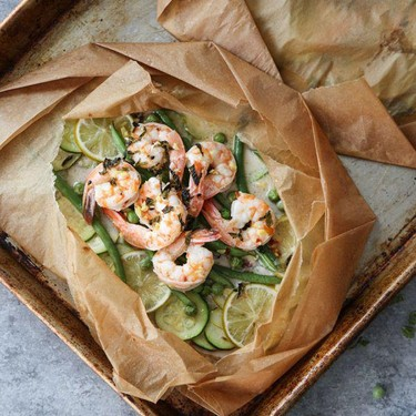 Coconut Lime Shrimp Packets with Veggies Recipe   SideChef