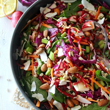 Red Cabbage, Spinach & Beetroot Detox Salad Recipe   SideChef