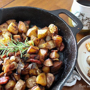 Skillet Potatoes Infused with Caramelized Onions (AKA Hangover Potatoes) Recipe   SideChef