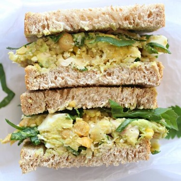 Smashed Chickpea Avocado Chicken Salad Sandwich Recipe | SideChef