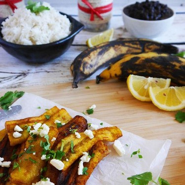 Sweet Fried Plantain with Feta Cheese and Coriander Recipe   SideChef