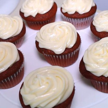 Red Velvet Cupcakes with Cream Cheese Frosting Recipe | SideChef