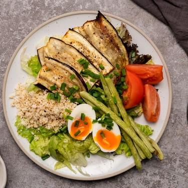 Ensalada Talong (Roasted Eggplant Salad with Garlic Riced Cauliflower) Recipe | SideChef