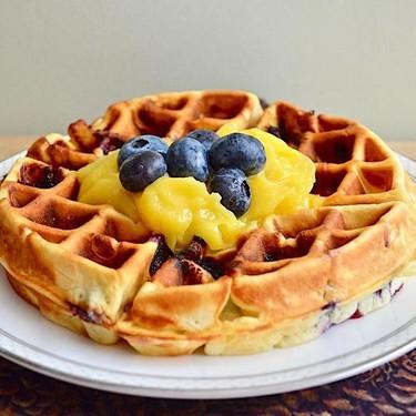 Lemon Blueberry Waffles Recipe | SideChef