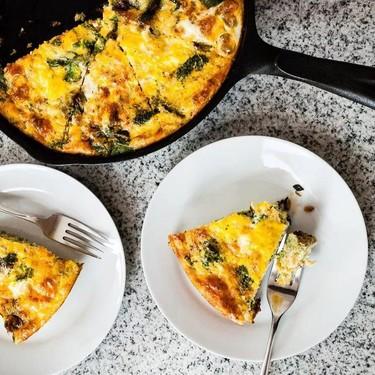 Smoky Broccoli Spinach and Cheddar Frittata Recipe   SideChef