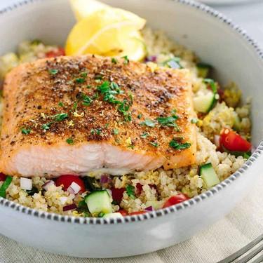 Mediterranean Spiced Salmon and Vegetable Quinoa Recipe   SideChef