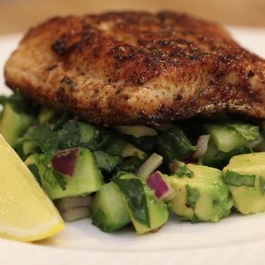 Blackened Salmon with Avocado Salsa Recipe   SideChef