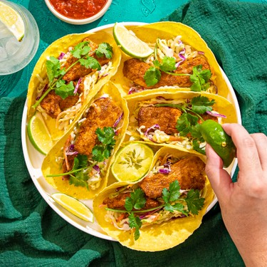 Chipotle Chicken Tacos with Honey-Lime Slaw Recipe   SideChef
