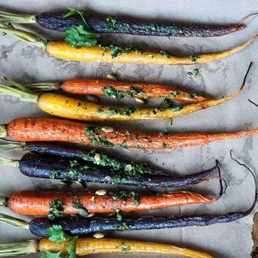 Roasted Carrots with Carrot Top Pesto Recipe   SideChef