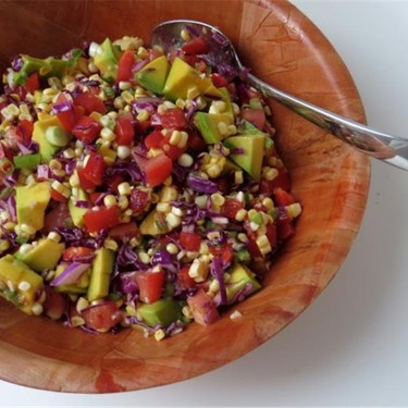 Fresh Corn Salad with Peppers and Avocado Recipe | SideChef