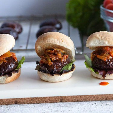 Portobello Mushroom Sliders Recipe | SideChef