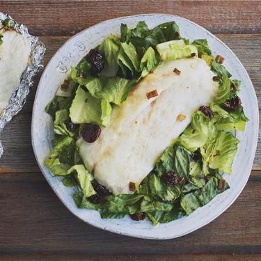 Tin Foil Snapper with Kilt Lettuce Salad Recipe | SideChef