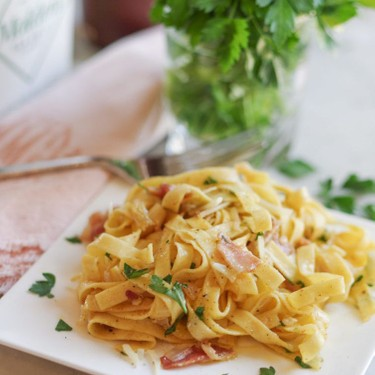 Fettuccini Carbonara Recipe   SideChef