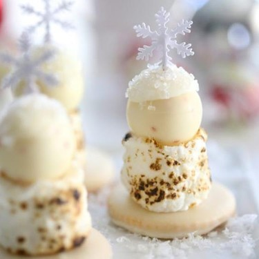 Winter White Chocolate Peppermint Truffle S'mores Recipe | SideChef