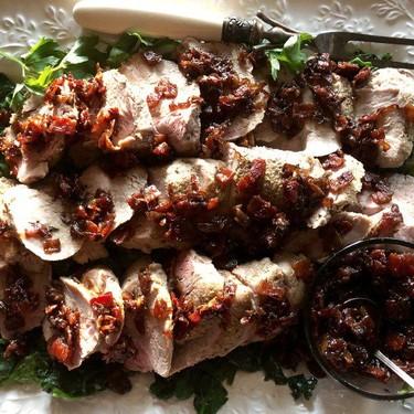 Pork Tenderloin with Bacon-Maple Dressing Recipe   SideChef