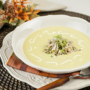 Chilled Corn and Crab Soup Recipe   SideChef