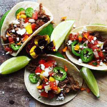 Barbacoa Street Tacos with Mango Pico De Gallo Recipe | SideChef