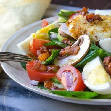 Spinach Salad and Fried Chèvre Recipe   SideChef