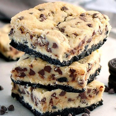 Oreo Cheesecake Cookie Dough Bars Recipe | SideChef