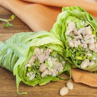 Zesty White Bean and Tuna Lettuce Wraps Recipe | SideChef