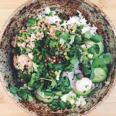 """End of the Month"" Tuna Poke Bowl Recipe | SideChef"