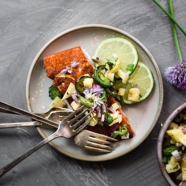 Cajun Salmon with Roasted Jalapeño Pineapple Salsa Recipe | SideChef
