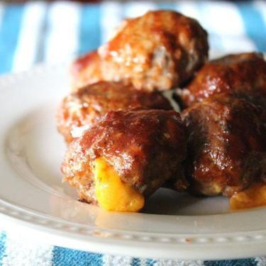 BBQ Cheddar Stuffed Meatballs Recipe | SideChef