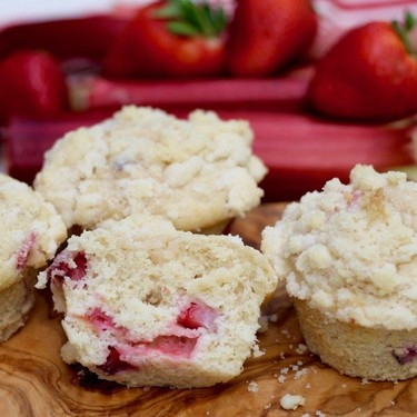Strawberry Rhubarb Streusel Muffins Recipe   SideChef