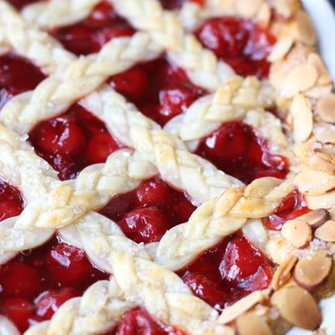 Cherry Almond Pie Recipe | SideChef