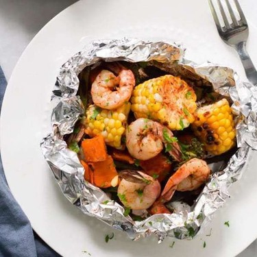 Shrimp Veggies Foil Packets Recipe   SideChef