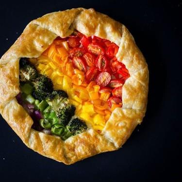 Rainbow Vegetable Tart Recipe   SideChef