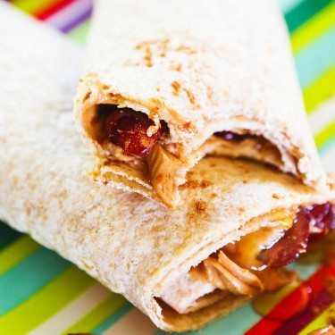 Peanut Butter and Honey Wraps with Grapes and Cinnamon Recipe | SideChef