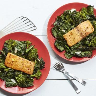 Teriyaki Salmon with Broccolini and Kale Recipe   SideChef
