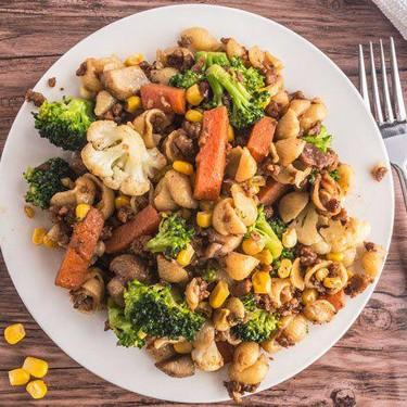 Vegan Beef Veggie Pasta Recipe | SideChef