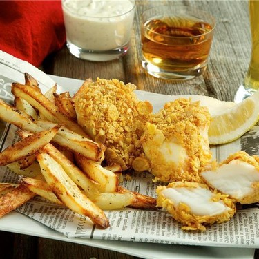 Baked Fish and Chips with Tartar Sauce Recipe | SideChef